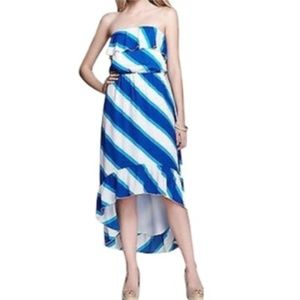 Lilly Pulitzer Blue White Gold Maxi Dress Size S